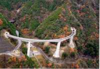 伯母谷ループ橋完成写真