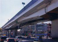 喜連瓜破高架橋補強工事完成状況