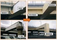 下植野高架橋の横梁「移植」と鈑桁の「再利用」による連続立体ラーメン橋の完成