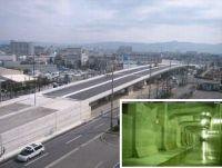 新宝町跨道橋架設完了、(右下)仁和寺調節池完成(調節池内部)