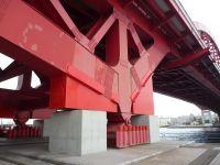 耐震補強工事が完成した神戸大橋
