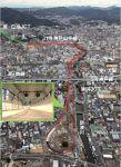 密集市街地に位置する神戸山手線(南伸部)