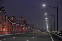 LED道路照明の設置事例(府道大阪中央環状線・鳥飼大橋)