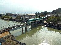 那智川橋梁復旧工事の完成(運転再開時の様子)
