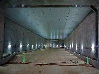 工事完了後の地下道路ボックス(舗装施工前)