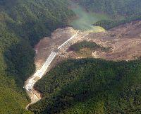 栗平地区天然ダム全景(越流時仮排水路)(H24.9.20)