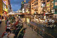 道頓堀川における賑わい創出の取り組み(難波八阪神社船渡御)