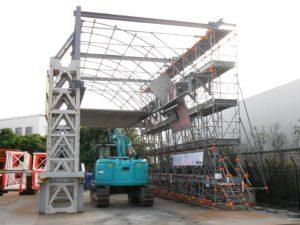 天井板撤去 実証実験設備