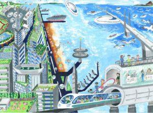 2021年度「土木の日」ポスター募集【子供部門・優秀賞】矢野 翔悟さん