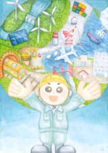 2021年度「土木の日」ポスター募集【一般部門・入選】岡野 空莉さん